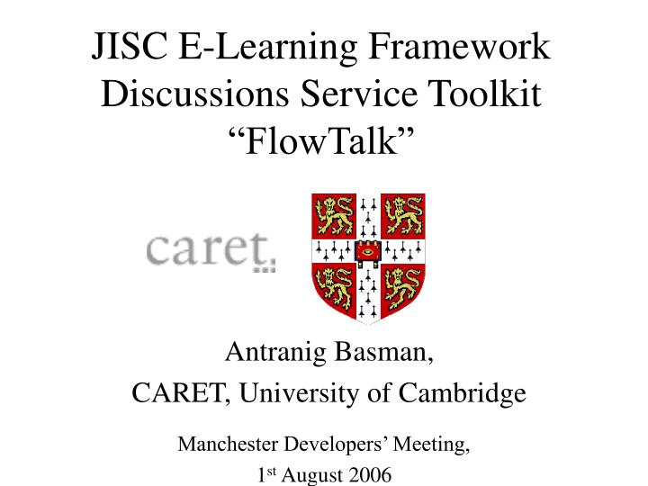 jisc e learning framework discussions service toolkit flowtalk n.