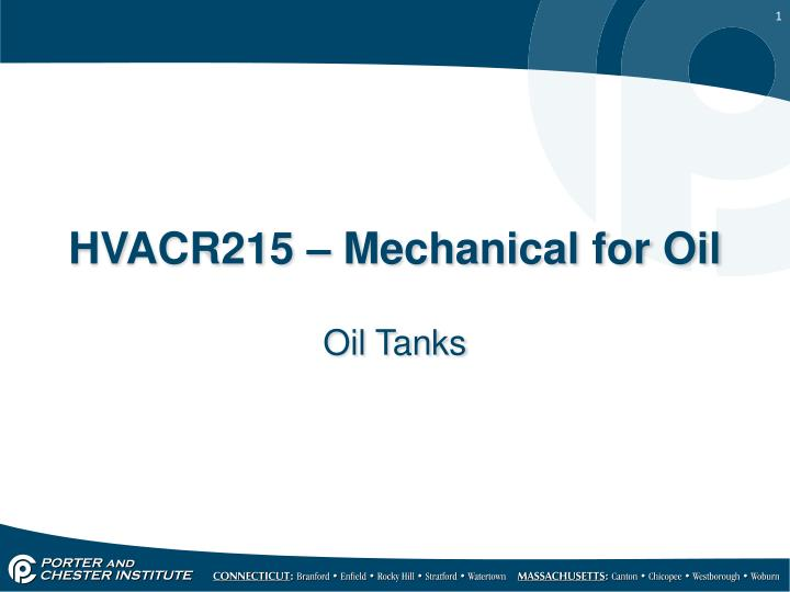 hvacr215 mechanical for oil n.