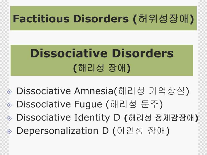 Factitious Disorders (