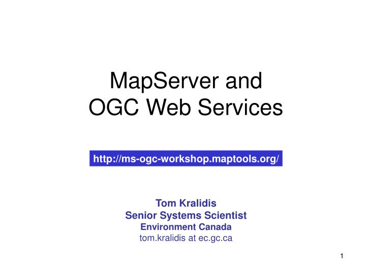 mapserver and ogc web services n.