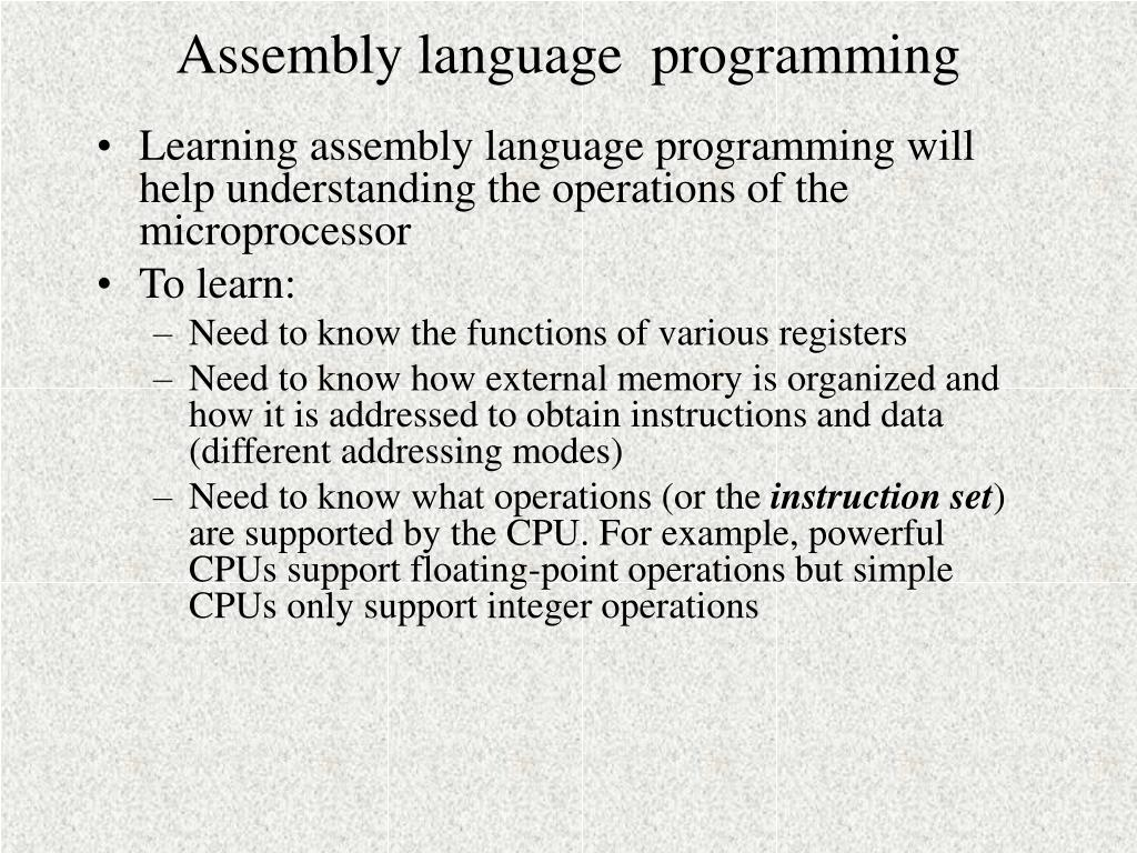 assembly language programming n.