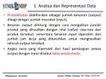 1 analisa dan representasi data
