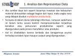 1 analisa dan representasi data1
