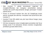 nilai investasi ti source turisco fcg