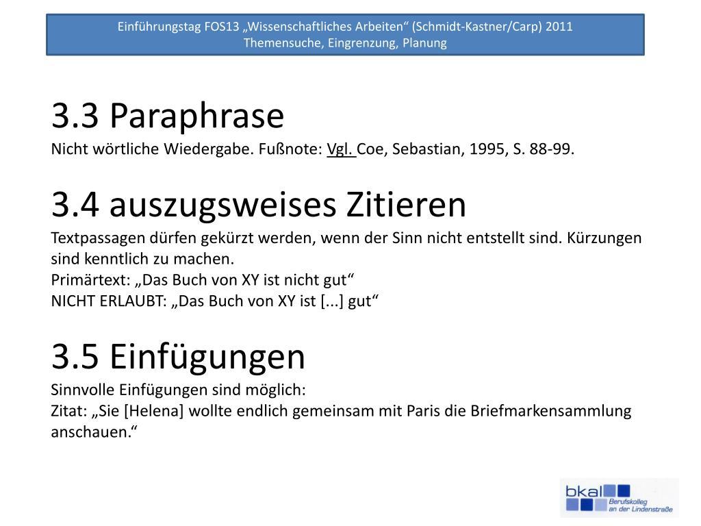 Ppt Wissenschaftliches Arbeiten Powerpoint Presentation