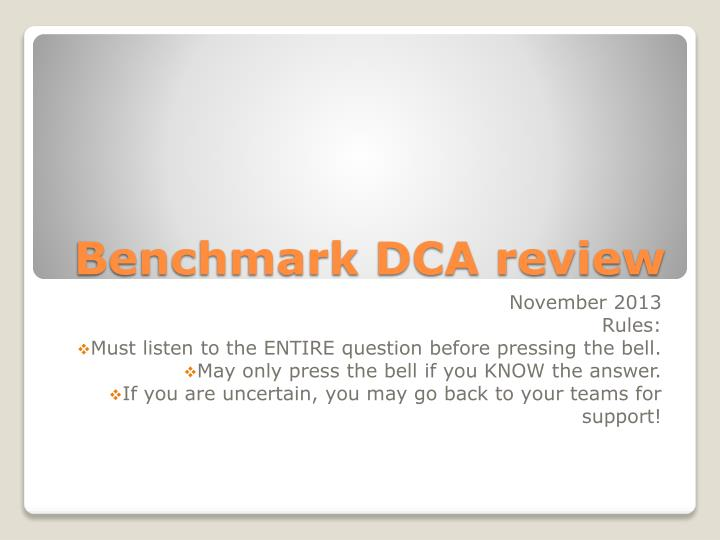 benchmark dca review n.