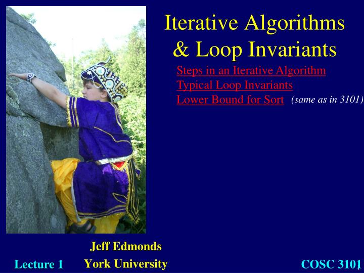 iterative algorithms loop invariants n.