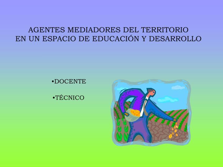 AGENTES MEDIADORES DEL TERRITORIO