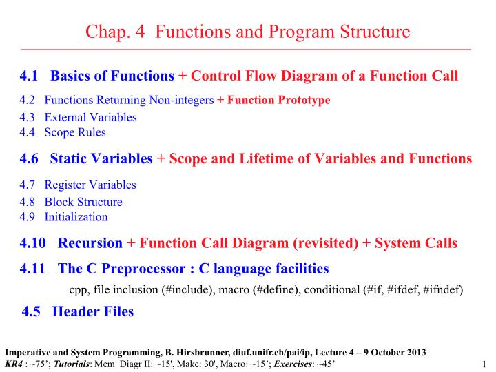 chap 4 functions and program structure n.