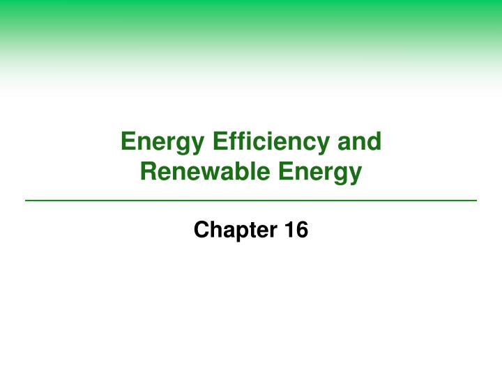 energy efficiency and renewable energy n.