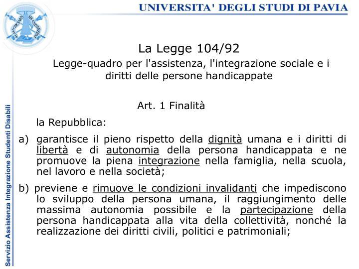 La Legge 104/92