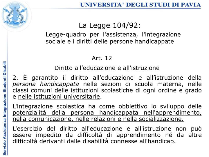 La Legge 104/92:
