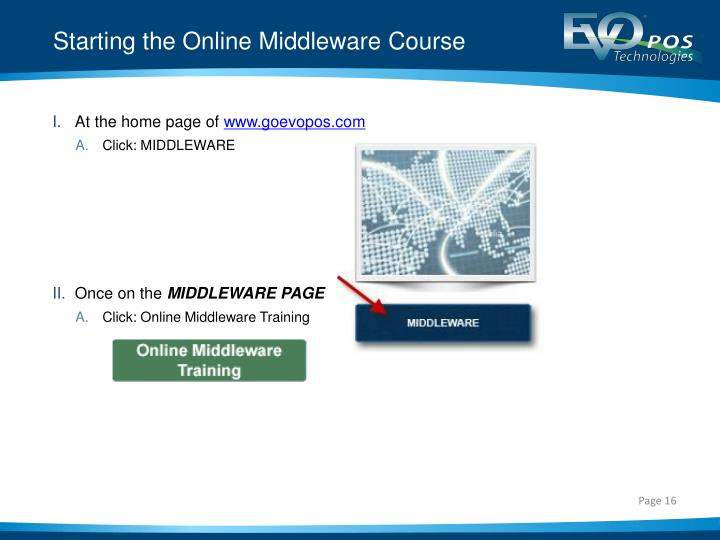Starting the Online Middleware Course