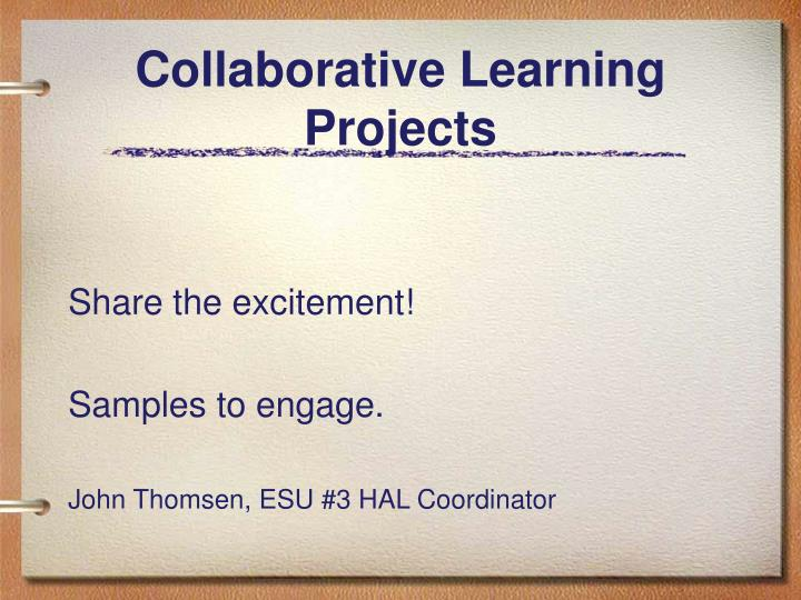 collaborative learning projects n.