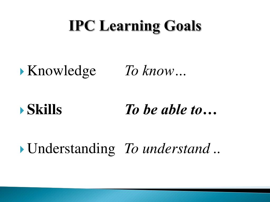 PPT - IPC Assessment for Learning at Kidurong International
