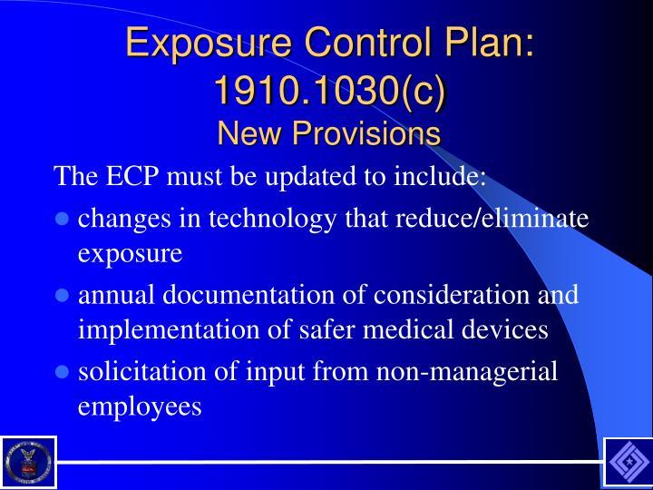 Exposure Control Plan: