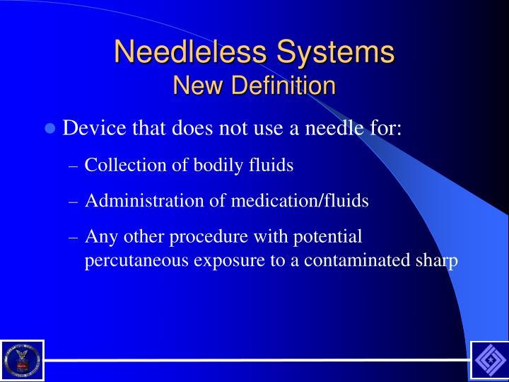 Needleless Systems