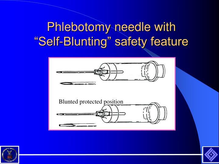 Phlebotomy needle with