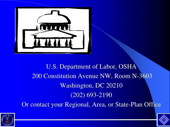 U.S. Department of Labor, OSHA