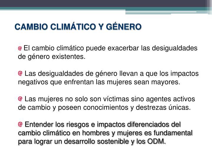 CAMBIO CLIMÁTICO Y GÉNERO