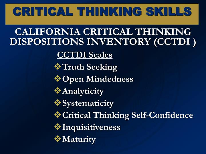 CALIFORNIA CRITICAL THINKING