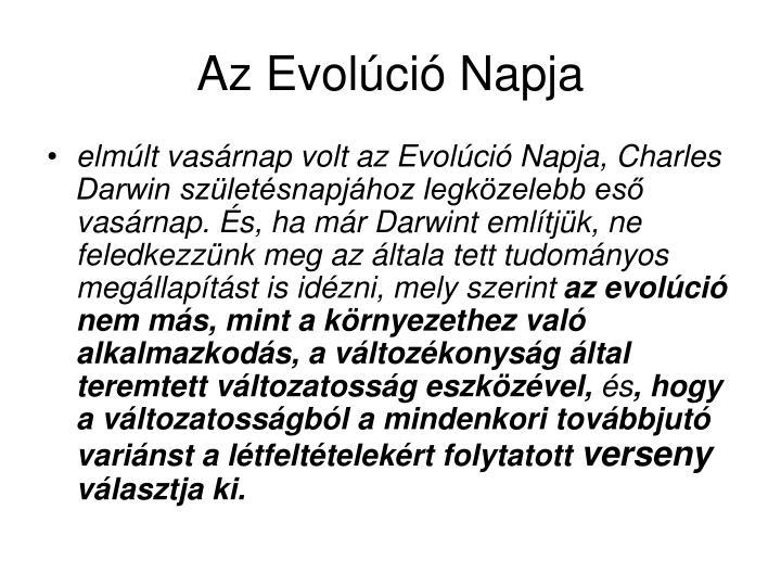 Az evol ci napja