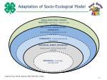 adaptation of socio ecological model