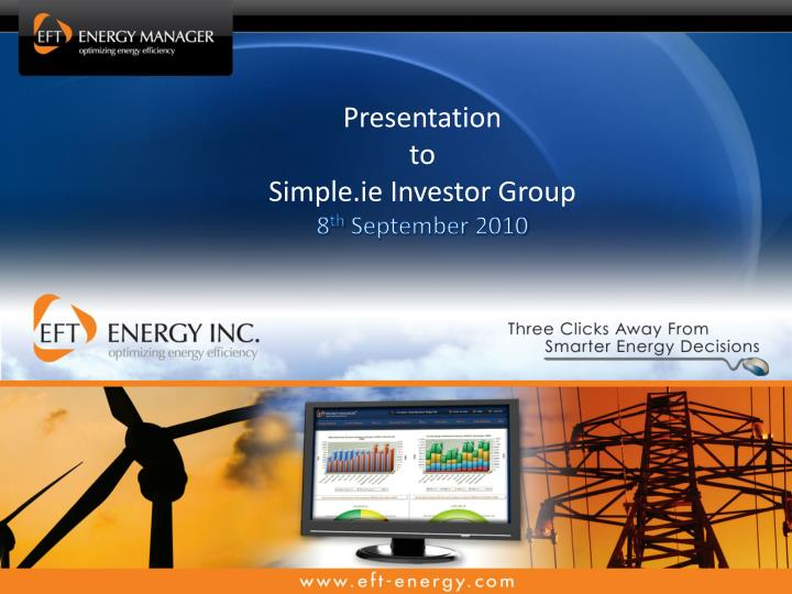 presentation to simple ie investor group 8 th september 2010 n.