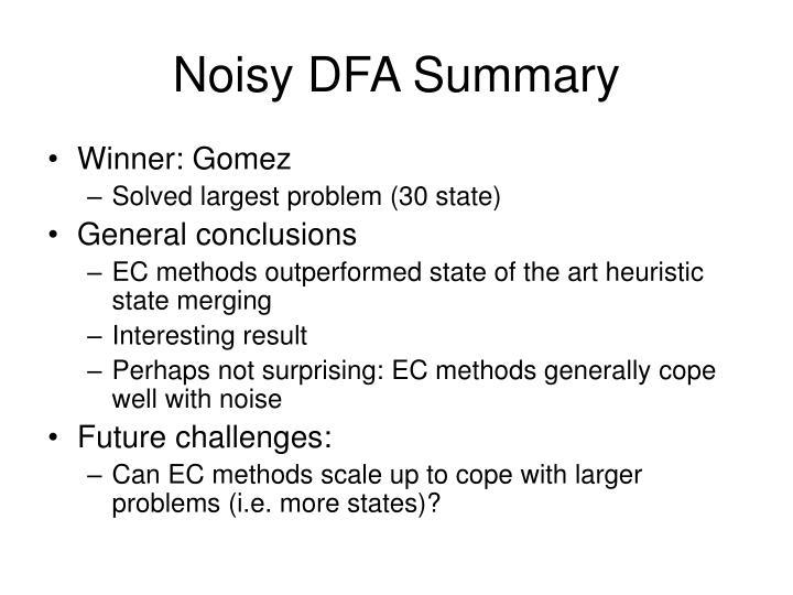 Noisy DFA Summary