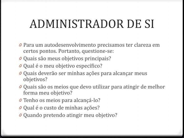 ADMINISTRADOR DE SI