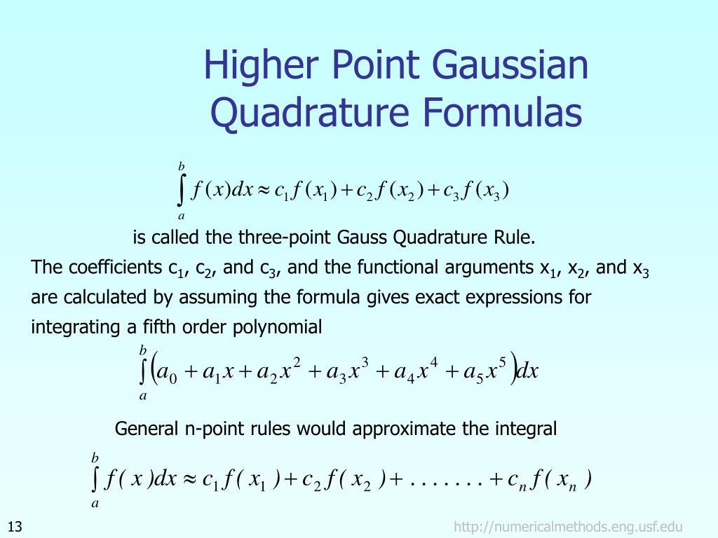 PPT - Gauss Quadrature Rule of Integration PowerPoint Presentation