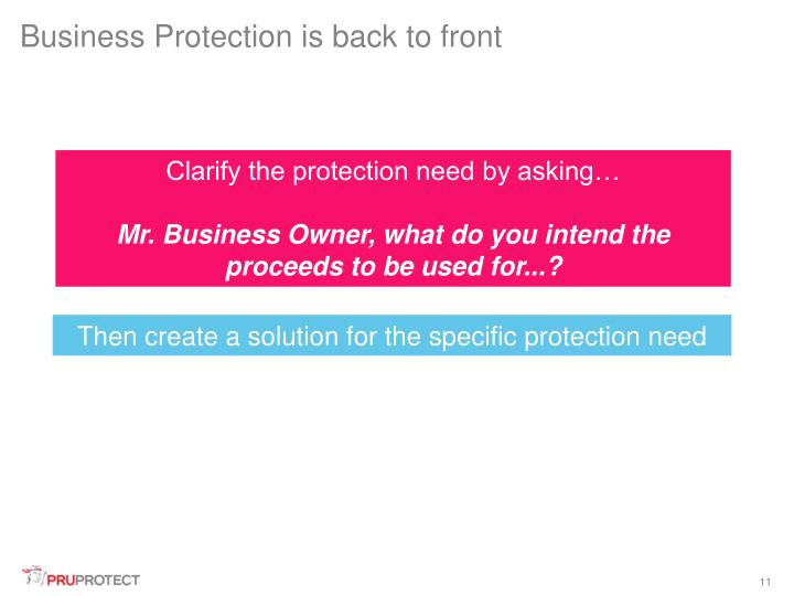Business Protection is back to front