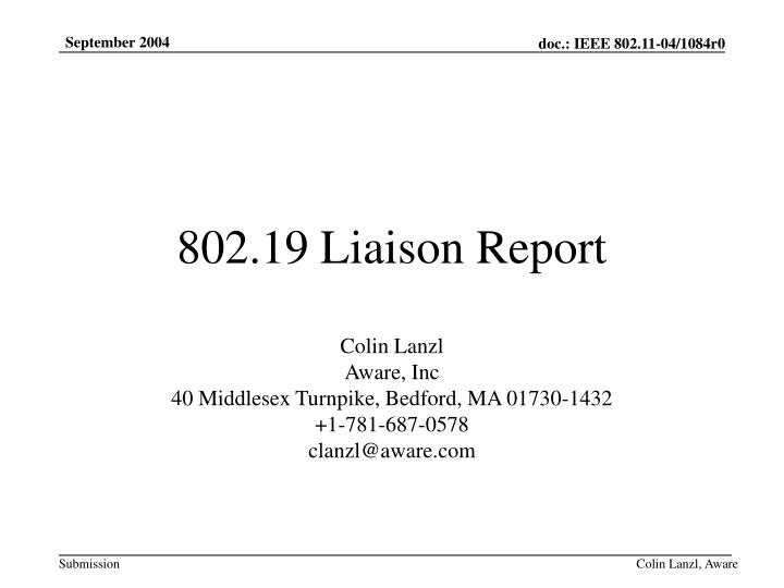 802 19 liaison report n.