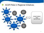 acer role in regional initiatives