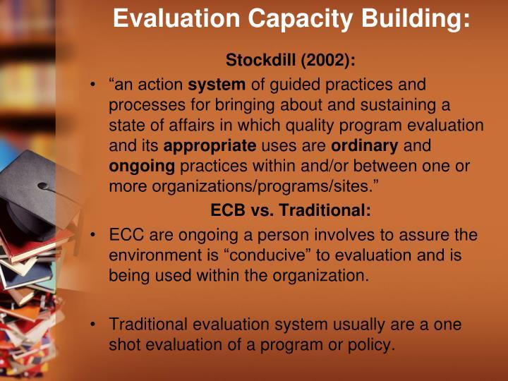 Evaluation Capacity Building:
