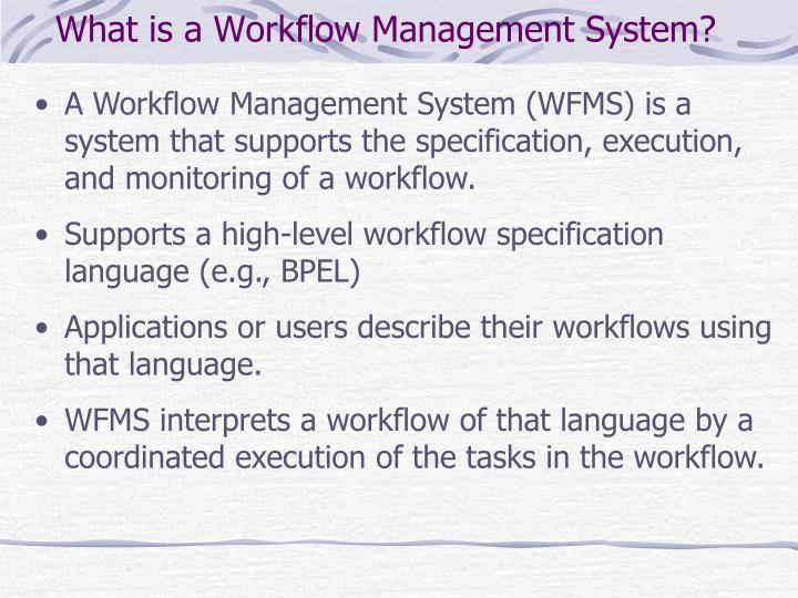 What is a Workflow Management System?