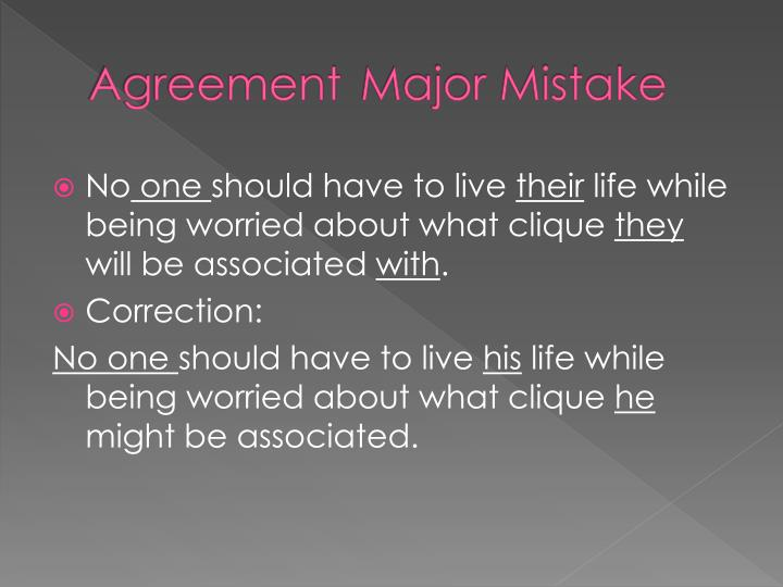 agreement major mistake n.