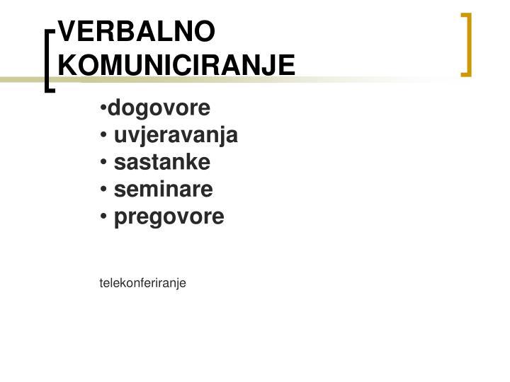 Verbalno komuniciranje