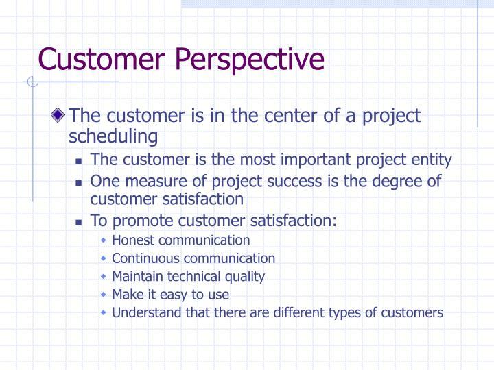 Customer Perspective