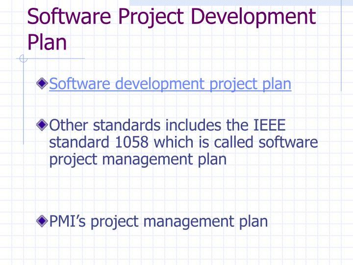 Software project development plan