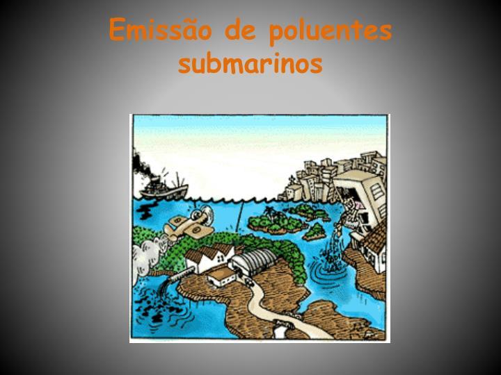 Emissão de poluentes submarinos