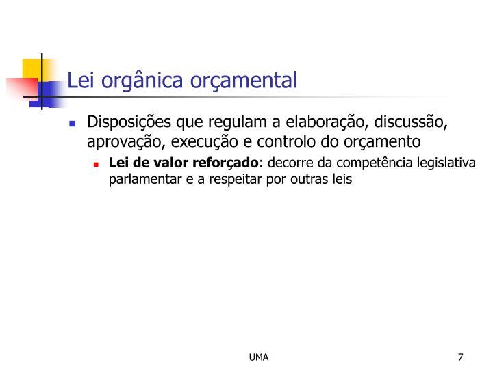 Lei orgânica orçamental