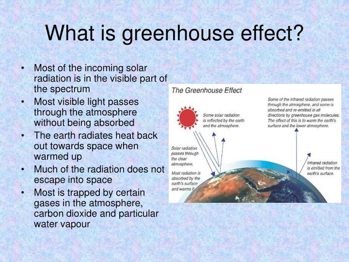 issue of greenhouse effect Greenhouse gases such as water vapour, methane and carbon dioxide stop heat  escaping from the earth into space an increased greenhouse effect can lead.