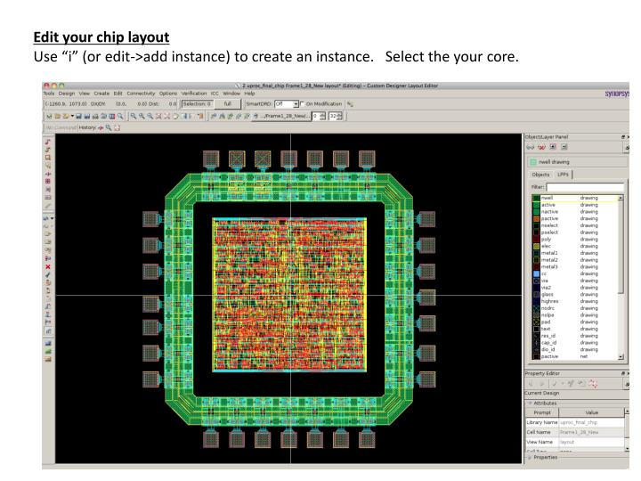 Edit your chip layout