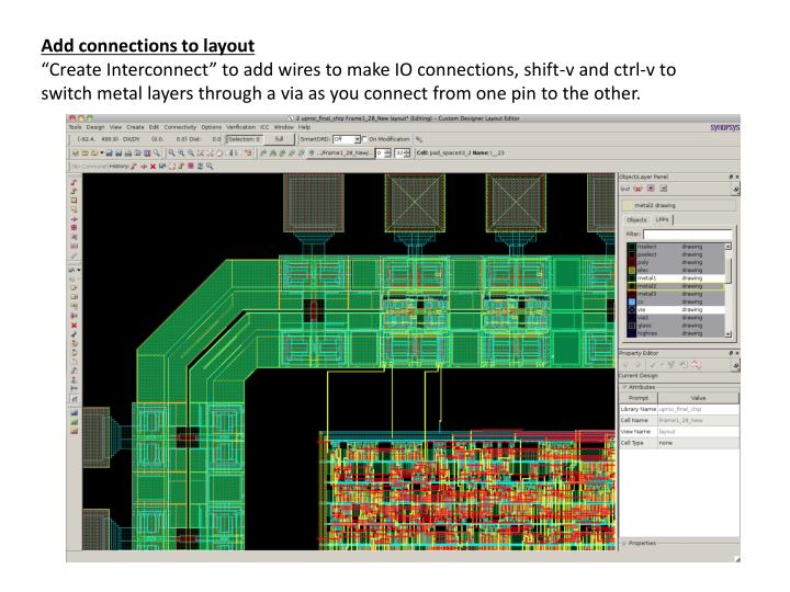 Add connections to layout