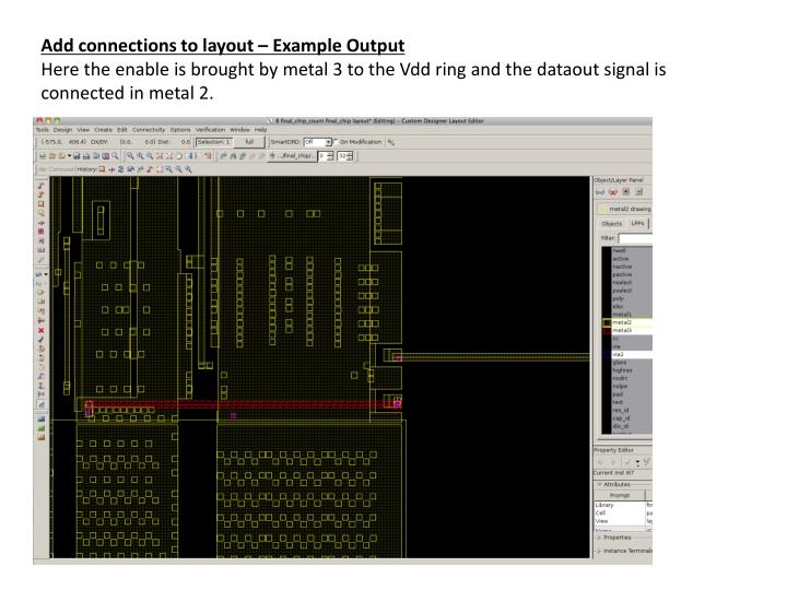 Add connections to layout – Example Output