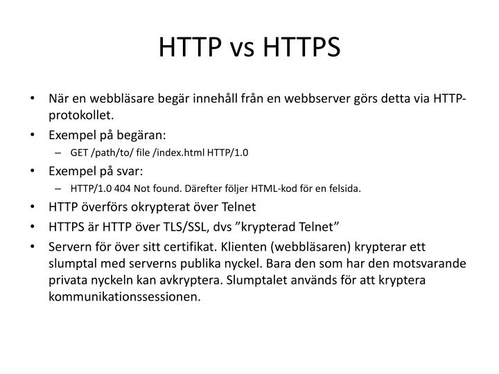 HTTP vs HTTPS