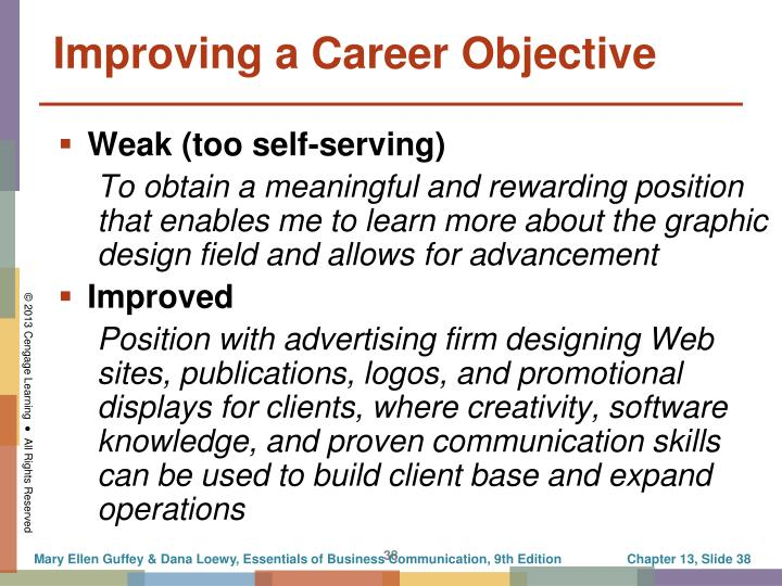 Improving a Career Objective