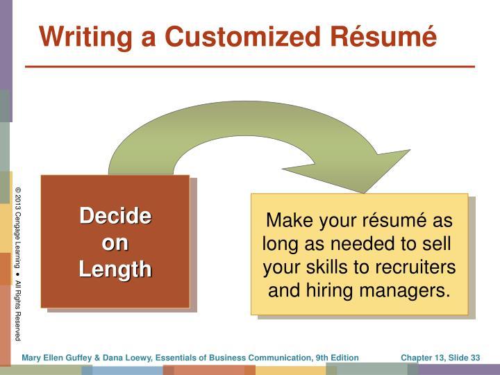 Make your résumé as