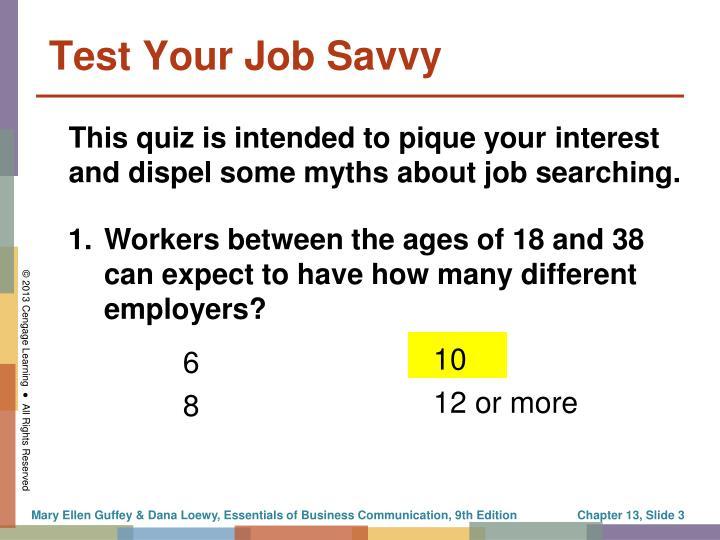 Test your job savvy
